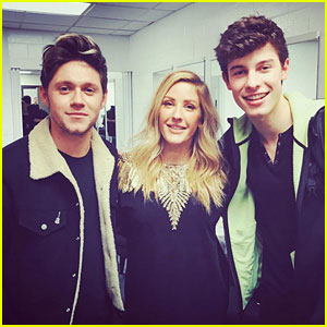 Niall Horan & Former Flame Ellie Goulding Spend Time Backstage at Jingle Ball!
