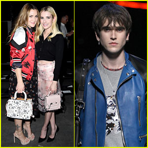Drew Barrymore & Emma Roberts Buddy Up at Coach's 75th Anniversary Show!