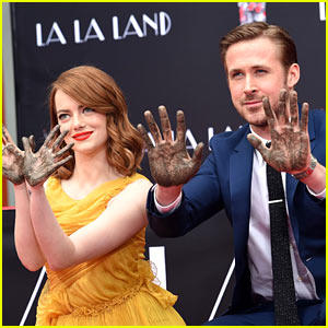 Emma Stone & Ryan Gosling Honored at Hand & Footprint Ceremony at TCL Chinese Theatre