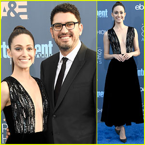 Emmy Rossum Supports Fiance Sam Esmail at Critics' Choice Awards 2016!