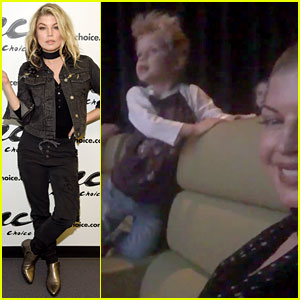 Fergie Shares Video from Watching 'Trolls' with Son Axl!
