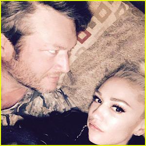 Gwen Stefani Celebrates New Year's Eve 2017 with Blake Shelton!