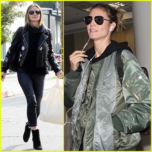 Heidi Klum Arrives Back in LA After Miami Art Basel