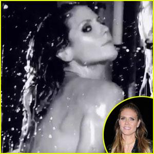 Heidi Klum Takes Steamy Bath For Love Mag's Advent Calendar