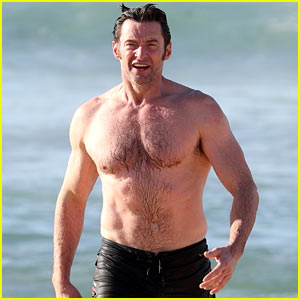 Hugh Jackman Shows Off His Hot Bod at the Beach!