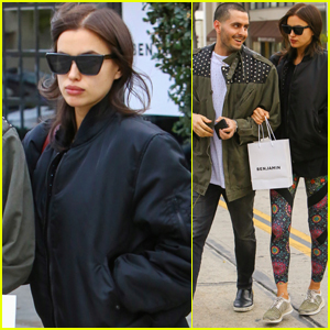 Irina Shayk Keeps Her Baby Bump Covered in Beverly Hills