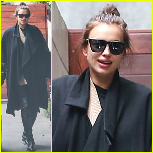 Irina Shayk Keeps Baby Bump Covered in Los Angeles