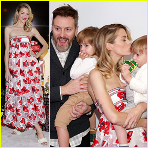 Jaime King Snaps Adorable Family Photos at Just Jared's Holiday Party!