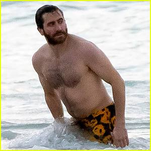 Jake Gyllenhaal Is Shirtless on the Beach to Cheer You Up Today