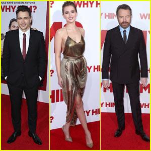 James Franco, Zoey Deutch, & Bryan Cranston Premiere 'Why Him?'