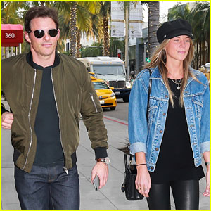 James Marsden Goes Holiday Shopping with Girlfriend Edei