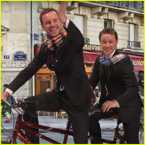 VIDEO: James McAvoy & Michael Fassbender Hilariously Recreate Fan Art