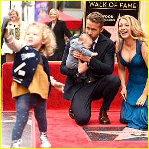 James Reynolds Steals the Microphone from Dad Ryan Reynolds at Walk of Fame Ceremony!