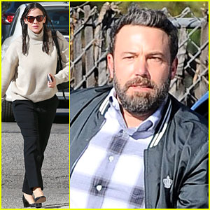 Jennifer Garner & Ben Affleck Take Their Kids to Church
