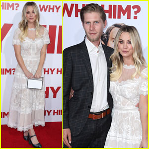 Kaley Cuoco & Karl Cook Couple Up for 'Why Him?' Premiere