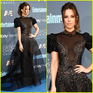 Kate Beckinsale Dresses Like a Christmas Tree at Critics' Choice Awards 2016!