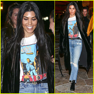 Kourtney Kardashian Enjoys a Girls Night Out!