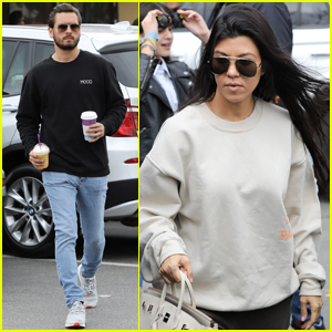 Kourtney Kardashian & Scott Disick Have Holiday Luncheon With the Kids