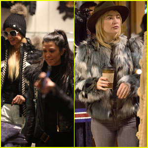 Kourtney Kardashian Runs into Paris Hilton & Kate Hudson in Aspen!