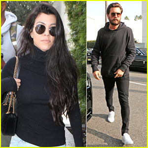 Kourtney Kardashian & Scott Disick Enjoy Lunch as a Family