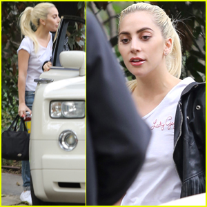 Lady Gaga Stops By Bradley Cooper's House Ahead of 'A Star Is Born' Filming