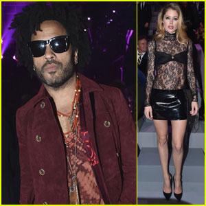 Lenny Kravitz, Doutzen Kroes, & More Celebs Sit Front Row at Victoria's Secret Fashion Show 2016