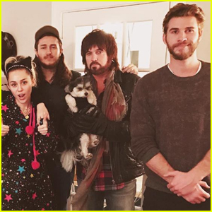 Liam Hemsworth & Miley Cyrus Celebrated Christmas Early With Her Family!