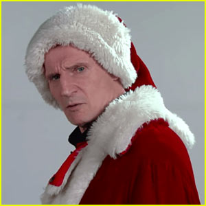 VIDEO: Liam Neeson is the Scariest Santa Claus You'll Ever Meet!