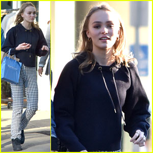Lily-Rose Depp Has To Put Her Dog In T-shirts So She Doesn't Scratch Herself