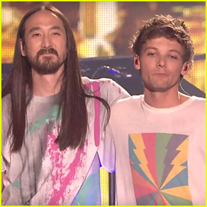 VIDEO: Louis Tomlinson Sings 'Just Hold On' With Steve Aoki at X Factor Finals
