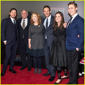 Mark Wahlberg Attends 'Patriots Day' Screening with Boston Marathon Bombing Survivors