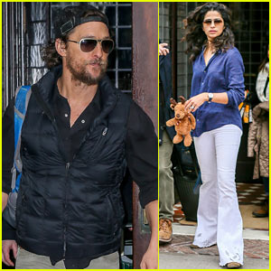 Matthew McConaughey & Camila Alves Head Home for the Holidays