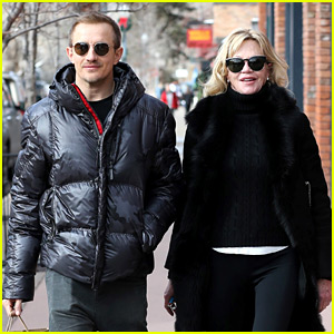 Melanie Griffith Strolls Around Aspen with Her Step-Son Jesse