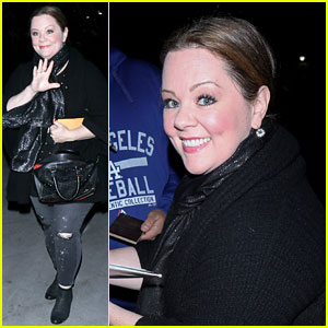 Melissa McCarthy Watches Lakers Beat Clippers on Christmas