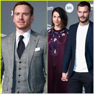 Michael Fassbender & Jamie Dornan Suit Up for British Independent Film Awards 2016