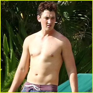 Miles Teller Goes Shirtless in Hawaii with Girlfriend Keleigh Sperry!