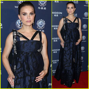 Natalie Portman Holds Onto Her Baby Bump at Huading Global Film Awards