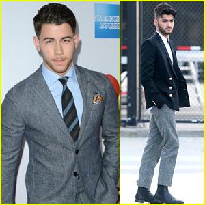 Nick Jonas & Zayn Malik Suit Up for Billboard Women in Music Luncheon