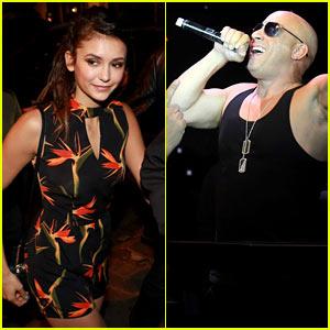 Nina Dobrev & Vin Diesel Party at Brazil Nightclub!