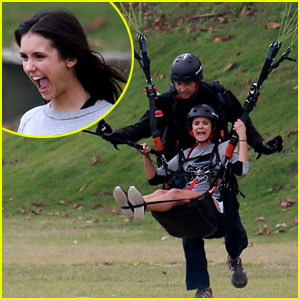 Nina Dobrev Has the Best Reaction After Paragliding in Brazil!