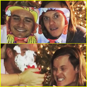VIDEO: Orlando Bloom Competes with Katy Perry's Brother in Epic Pie-in-the-Face Game!