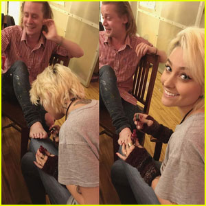 Macaulay Culkin Gets Pretty Pedicure From Goddaughter Paris Jackson