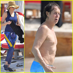 Paul McCartney Hits The Beach With Daughter Stella in St. Barts