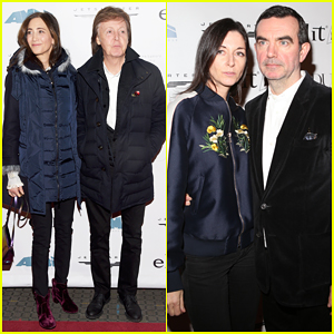 Paul McCartney & Nancy Shevell Support Son-In-Law Simon Aboud At NYC Screening!