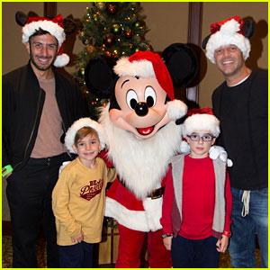 Ricky Martin Brings Twins to Disneyland with Fiance Jwan Yosef!