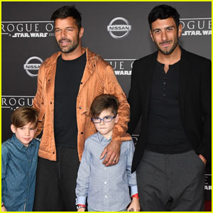 Ricky Martin Brings His Boys to 'Rogue One' Premiere With Fiance Jwan Yosef