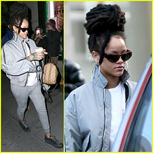 free shipping 6e3ef c708f Rihanna Arrives to 'Ocean's Eight' Set in Her Fenty x Puma ...