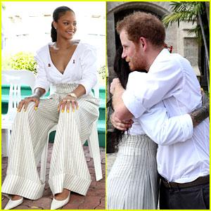 Rihanna Gets a Big Hug from Prince Harry in Barbados!