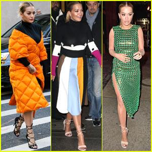 Rita Ora Turns NYC into Her Own Catwalk