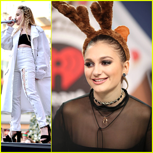 Singers Daya & Sabrina Carpenter Perform at Jingle Ball LA's Pre-Show